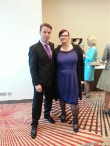 Astrid en haar man Rob bij de Inhuldigingsplechtigheid