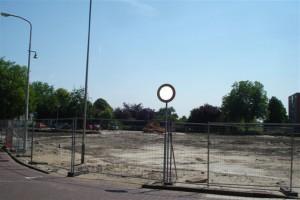 Lege vlakte van het voormalige gemeentehuis Berkel en Rodenrijs