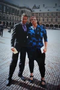 Astrid Oosenbrug en echtgenoot Rob op Prinsjesdag