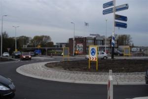 Nieuwe rotonde Bergweg Zuid-Boterdorpseweg