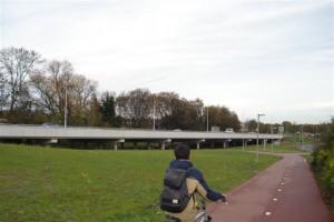 Nieuwe viaduct & fietspad langs N209 Bergweg Zuid