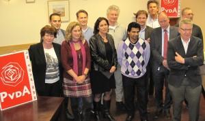 Alle PvdA Lansingerland kandidaten voor de Gemeenteraadsverkiezingen 2014. Op de foto ontbreekt Shena Ammersing.