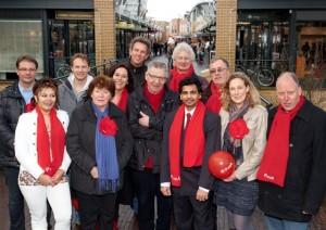 Het PvdA Lansingerlandse Top Team voor de Gemeenteraadsverkiezingen in maart 2014