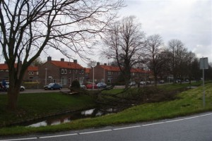 Stormschade in Berkel centrum