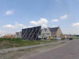 Achterzijde Bleiswijkse nieuwbouw: Lansingerlandse Folly