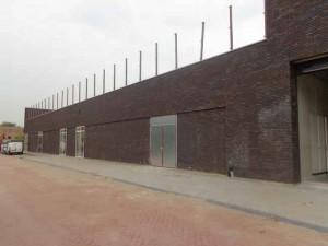 Achterzijde nieuwe winkelcentrum Kerksingel
