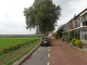 Zicht vanuit de wijk Rodenrijs richting Doenkadeplein