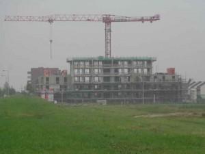 Locatie Huis de Haas Bergschenhoek in aanbouw