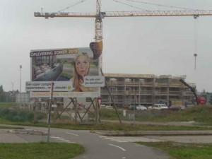 Klapwijkse Pier in aanbouw. Meerpolder Berkel