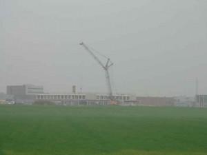 Nieuwe scholen in de nog lege Westpolder Berkel