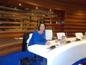 Ingrid Tuinenburg voor het eerst in de raadscommissie Algemeen Bestuur