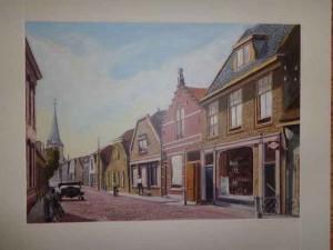 Berkel centrum, schilderij van Wim Bes