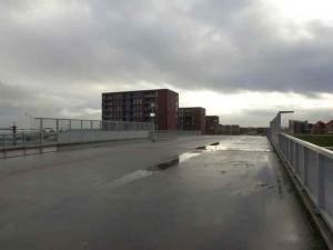 Nog kaal Offenbachviaduct in afwachting van een groene uitstraling