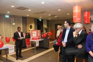 PvdA Nieuwjaarsreceptie 2015 met voorzitter Naushad Boedhoe