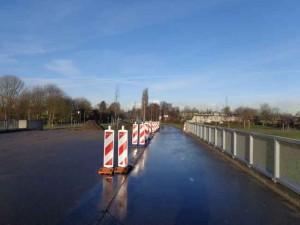 Parkje op Offenbachviaduct in aanleg