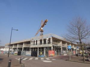 Winkelcentrum Bergschenhoek in aanbouw