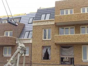 """""""Rampen"""" op de gevel nieuwbouw bij station Westpolder"""""""