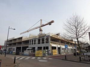 Nieuwbouw winkelcentrum Bergschenhoek