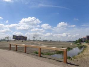 Ingang Zuid van het AMG Schmidtpark. Nog een paar weken en het is hier helemaal groen!