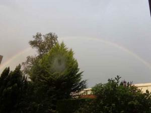 Regenboog boven Berkel noord