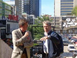 Afgelopen donderdag samen met oud PvdA Rotterdam fractievoorzitter Peter van Heemst en PvdA Lansingerland secretaris Raymond Tans op zoek naar het nieuwe & inspirerende Rotterdam.