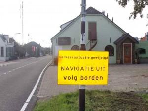 Navigatie uit! Noordeindseweg