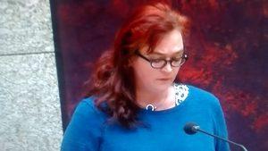 Astrid Oosenbrug aan slag tijdens het debat over de begroting BZK op woensdag 18 november 2015