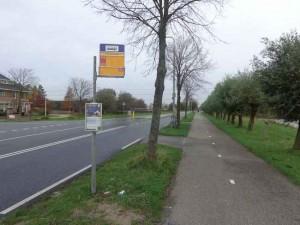 Eenzame ZoRo-bushalte Groendalseweg/A.H. Verweijweg in Berkel Noord