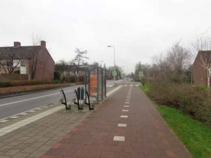 Spitsbus 174 loopt vast in Berkelse Westpolder