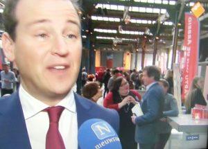 PvdA congres met Marry & Raymond Tans & Aleida Berghorst, Statenlid uit Maastricht & Lodewijk Asscher