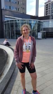Petra Verhoef liep haar derde Rotterdam Marathon in een persoonlijke recordtijd!