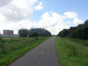 Onverlicht fietspad Landscheiding